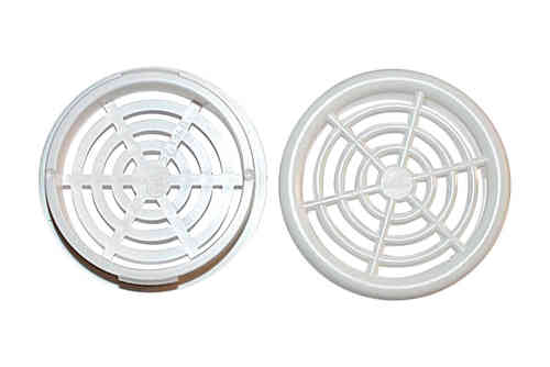 Round 48mm Vent White Pair